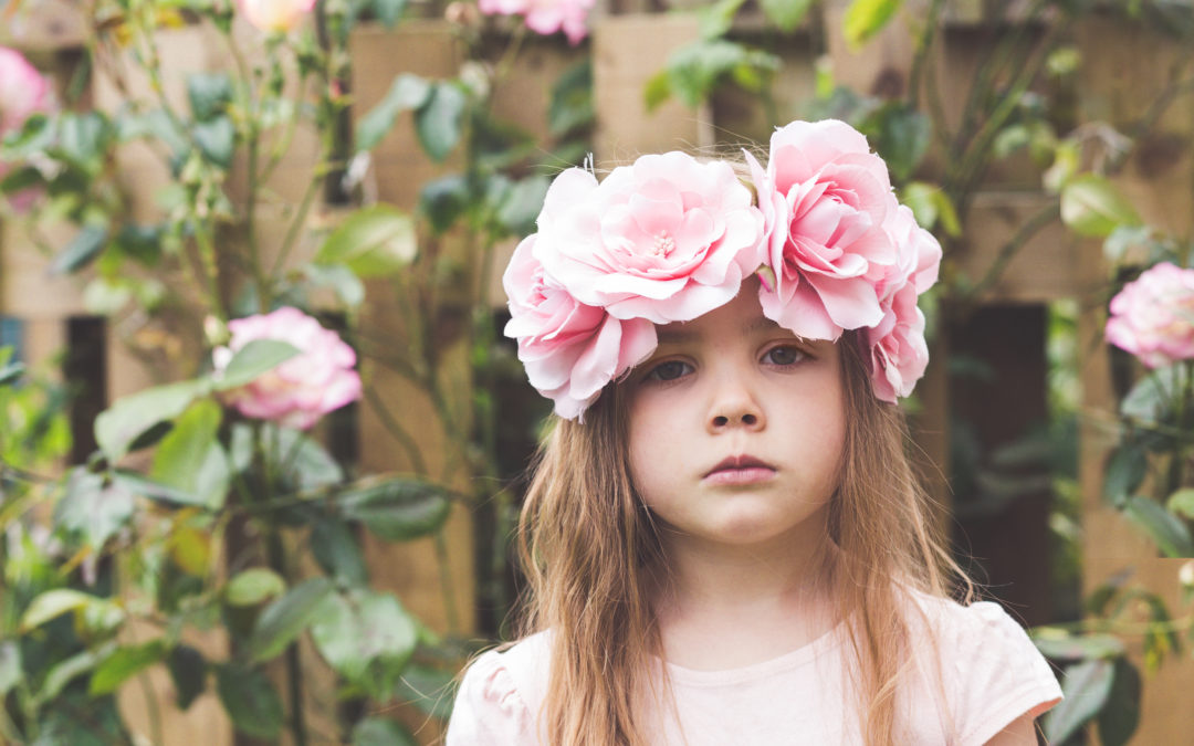 Cotswolds Child Portraiture – Flowers in the Garden